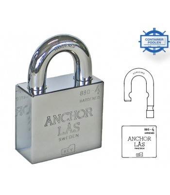 Hänglås Anchor 880-4 L B27 klass 4